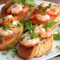 Мини-брускетты для фуршетов | Рыба/Морепродукты