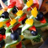 Канапе для фуршетов | Сыр/овощи/фрукты